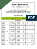 2018 JIDA Engine Bearing Bush and Thrust Washer Catalogue