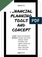 Written Report Groupings - Business Finance