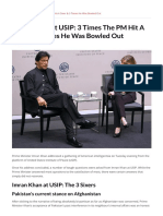 Imran Khan at USIP 3 Times the PM Hit a Sixer & 3 Times He Was Bowled Out
