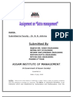 Assignment on Satra Management Docx