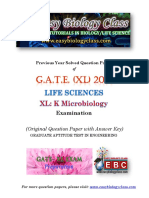 GATE XL 2015 K Microbiology Solved Question Paper PDF