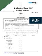 Iit Jee Advanced Examination 2017 Paper 2 Pcm