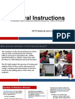 General Instruction 2019 election