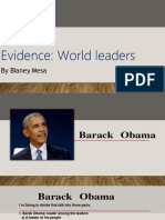 Evidence World Leaders BARACK OBAMA