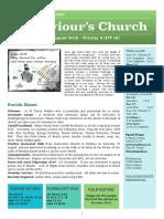 st saviours newsletter - 11 august 2019 - trinity 8