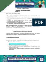 Actividad 6 Evidencia 5 Reading Workshop International Transport