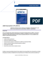 AISIN Fully Synthetic AFW VI Product Datasheet