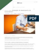 Avaliação de Desempenho - Como Fazer Avaliação de Desempenho_ Confira 5 Modelos de Questionários!