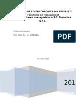 Reproiectarea Manageriala La SC Mecanica SA