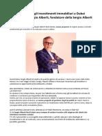 Investimenti Immobiliari a Dubai Sergio Alberti Parla Del Nuovo Progetto