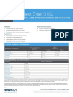 Dmls Stainless Steel 316L Material Specifications