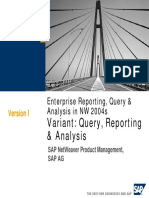 Query Reporting Analysis AG