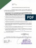 Annex B Affidavit of Loss