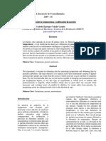Termodinámica Reporte 1