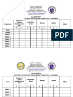 Tracking of Learners & Personnel Form