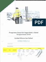 Plan Anual de Seguridad de SSO Epiroc