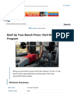 Beef Up Your Bench Press 10x3 Workout Program _ Muscle & Strength