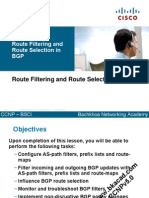 Route Filtering and Route Selection in BGP