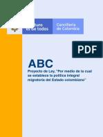 Abc Ley política migratoria