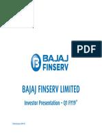 Bajaj Finserv Investor Presentation - Q1 FY2018-19