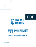 Bajaj Finserv Ltd. Investor Presentation - Q3 FY2017-18