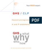 GHS CLP Hazard pictograms, H and P Statements