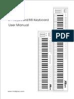 X6 8pro Midi Keyboard Manual CN En