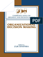 Epdf.tips Organizational Decision Making Cambridge Series On