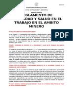 RESUMEN DEL REGLAMENTO DE SALUD Y SEGURIDAD MINERA EN EL ECUADOR