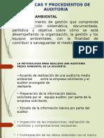 Técnicas y procedimientos de Auditoria del Medio Ambientes