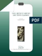 (Colloquium) Massimo Gioseffi (ed.) - Uso, riuso e abuso dei testi classici-Edizioni Universitarie di Lettere Economia Diritto (2012).pdf
