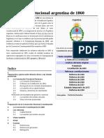 Reforma Constitucional Argentina de 1860