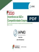 Competitividade empresarial Portugal 2020 - Incentivos