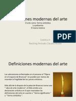 Definiciones Modernas Del Arte