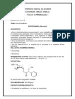 Trabajo de Farmacologia, Escopolamina