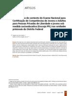 Uma síntese do contexto do Exame Nacional para Certificação de Competências de Jovens e Adultos para Pessoas Privadas de Liberdade e jovens sob medida socioeducativa (Encceja PPL) nas unidades prisionais do Distrito Federal