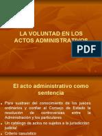 La Voluntad en Los Actos Administrativos