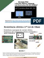 Atividade PHET - Circuitos Elétricos 1