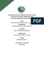 Iniciativa Para Legislar en El Ecuador