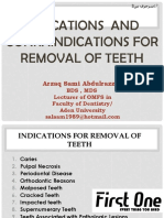 Indications for Removal of Teeth