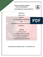 Cuestionario de Coagulopatias Adquiridas