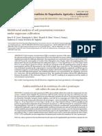 Multifractal analysis of soil penetration resistance under sugarcane cultivation