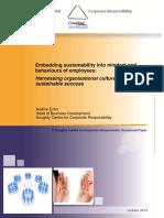 Embedding Sustainability Into Mindset and Behaviours of Employees