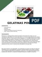 Gelatinas Power