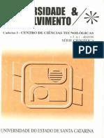UDESC - Universidade & Desenvolvimento - Caderno 5