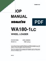 Shop Manual Wa180-1lc 75001 and Up