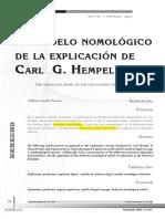 Dialnet-Modelo Nomologico Deductivo de Hempel Circ Viena Regularidades Etc12p