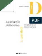 Jose Luis Martí - La república deliberativa