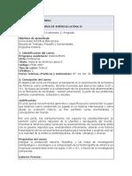 Programa y plan de estudios América II 2019-2
