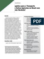 Otimização Logística Para o Transporte Multimodal de Safras Agrícolas No Brasil Com Foco No Corredor Nordeste